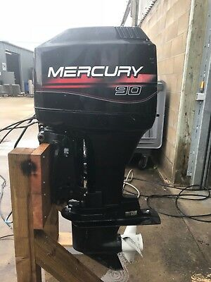 90Hp Mercury Outboard Boat Engine Complete With Remotes