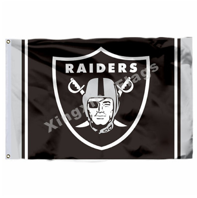 Oakland Raiders Large Outdoor Nfl 3 X 5 Banner Flag