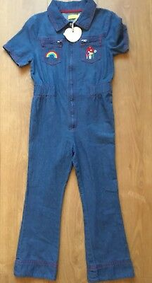 Little Bird By Jools Oliver Retro Denim ZIP Front Jumpsuit Age 3-4 Years Bnwt