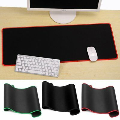 Large Mouse Pad Extended Gaming 300x600mm Big Size Desk Mat Black for PC Laptop