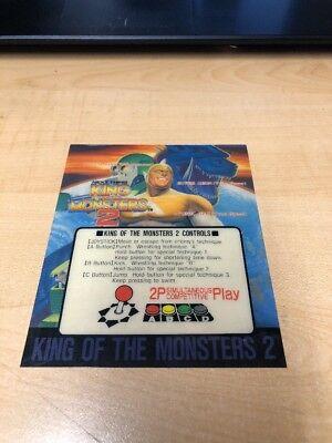 King Of The Monsters 2- SNK Neo Geo Arcade MVS Cartridge With Mini Marquee