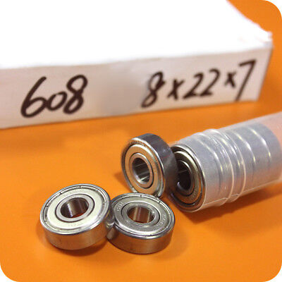 10Pcs Deep Groove Miniature Ball Bearings 80018 608ZZ 608-2Z/2RS 8*22*7mm Pulley