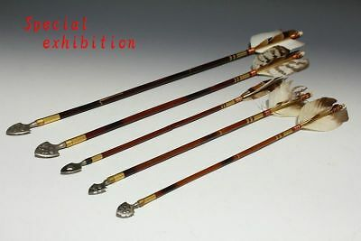 Japanese Antiques Meiji arrow lot 5 yumi Bow yoroi katana archery samurai Child