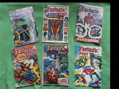 Marvel Comics Fantastic Four Early Issues Bundle Of 12