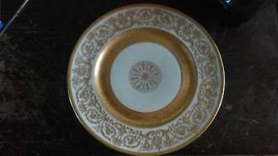 h c selb bavaria heinrich raised Gold on cream colored serving plate