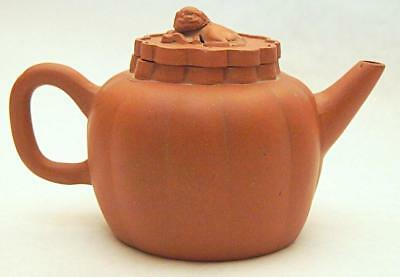Old Antique Chinese Qing Yixing Zisha Teapot Seal Mark To Base Of Tea Pot