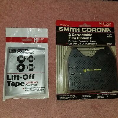 SMITH CORONA Correctable Film Ribbons PLUS LIFT-OFF TAPE H 21000 H 63446 H59048