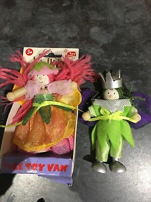 Set Of 2 Budkins Le Toy Van Fairy / King Or Prince
