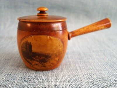 Vintage, Mauchline ware Thimble Case. (In the form of a Pot.)