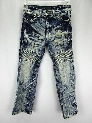 Road Narrows Boy's Blue Jeans Size 7 Acid Washed Distressed Cotton Blend W