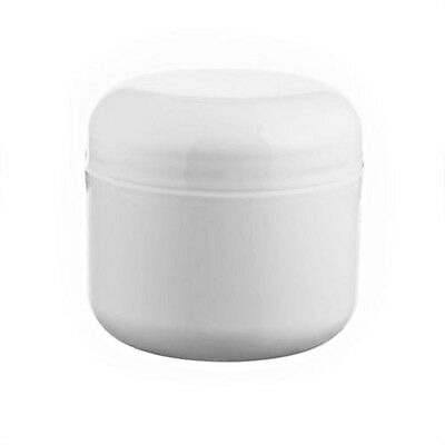 10 x 1 oz. WHITE DOUBLE WALL Polypropylene Jars + Lined Lid 53/400 | USA SELLER
