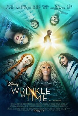 """A Wrinkle In Time """"B"""" vg 27x40 Original D/S Movie POSTER"""