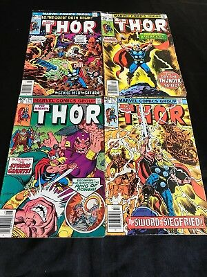 Lot Of 4 The Mighty Thor Comic Books #255 #272 #295 #297 +
