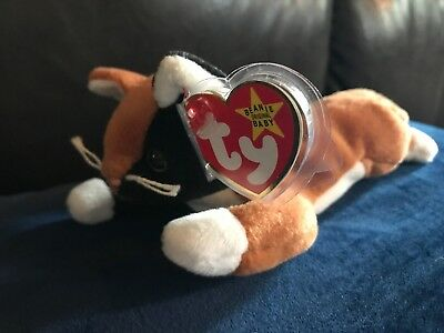Beanie Baby Babies Limited ty Calico Cat Chip 1996 Rare Retired Many Tag Errors