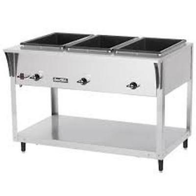 Vollrath 38213 ServeWell SL 3 Well S/s Hot Food Steam Table Electric 2100W
