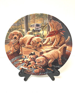 """Handle with Care"" Little Bandits Puppies Collector Plate LIMITED EDITION"
