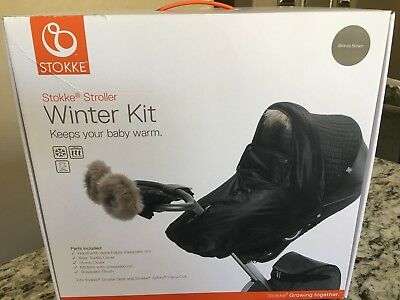 NEW $299 STOKKE Stroller WINTER KIT fits Seat & Xplory Carry Cot BRONZE BROWN
