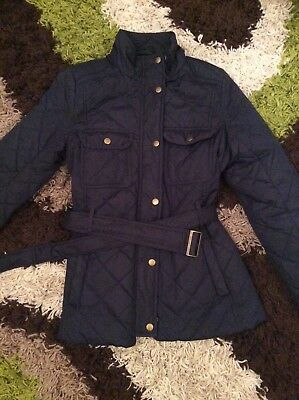 Womens Gap Dark Blue Quilted Padded Jacket Size S