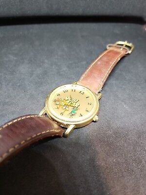 1993 Vintage Yogi Bear Watch. Will need new battery. Genuine leather band