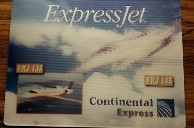Continental Express Jet fleet 3D lenticular card
