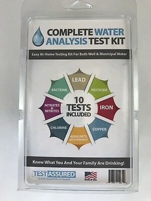 Drinking Water Test Kit - 10 Minute Testing For Lead Bacteria Pesticide Iron ...
