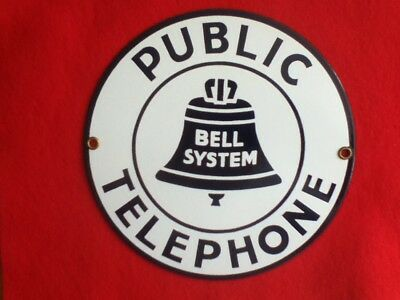 New old stock Ande Rooney Porcelain on Steel Bell System public phone sign