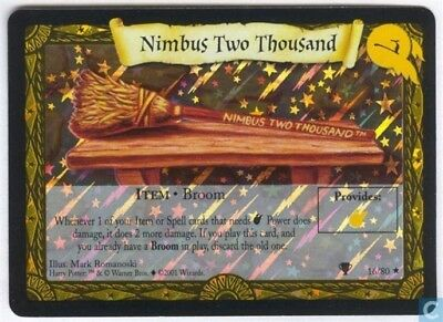 Harry Potter Quidditch Cup Foil Card *Nimbus Two Thousand* TCG CCG