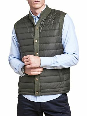 Barbour Men's  Essential Quilted Gilet Vest, New With Tags, Small, Olive Green