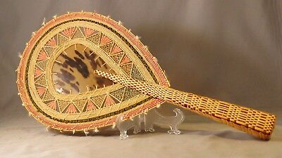 Antique Marshall Islands South Pacific Micronesia Hand Woven Fan !