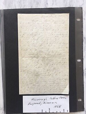 1868 Missionary manuscript letter from Harpoot