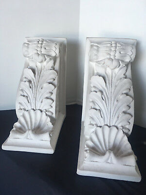 Pair of Plaster Wall Corbels 8-1/2'' tall