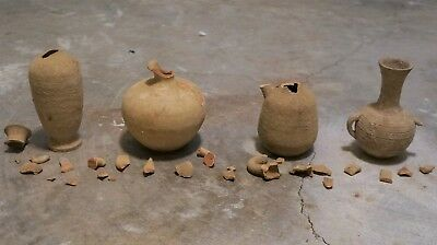 Ancient Roman Jewish artifact pottery in Israel terracotta vase fish sause olive