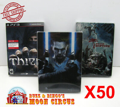 50x PLAYSTATION PS3 CIB GAME DVD STEELBOOK G1 - CLEAR PROTECTIVE BOX PROTECTOR