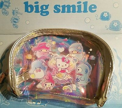 Hello Kitty Multi-Character Toiletry Pouch Makeup Bag Sanrio LootCrate Exclusive