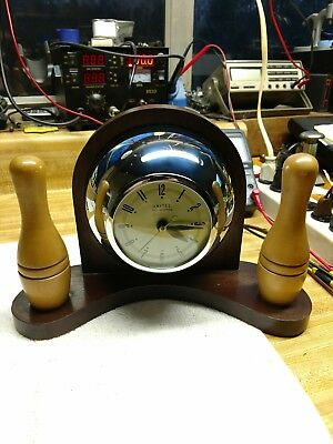 Vintage United Self-Starting Bowling Electric Clock-Circa 30's-40's-Serviced!