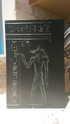 Vtg Alva Museum Replica Of Louvre Egyptian Plaque Of Anubis