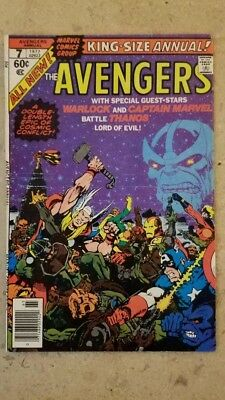 avengers king size annual 7  1977 (Marvel Comics) Thanos Appearance !