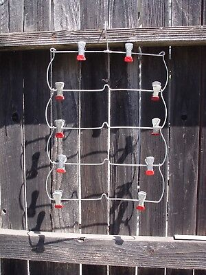 Vintage Metal 3 Tier Fold-Up Clothes Hanger With Metal Clips For Skirts Pants
