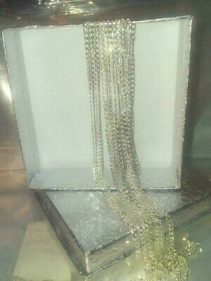 """Beautiful,  Sterling Silver  2 mm Curb Chain Necklace & gift bag. 18"""" long."""
