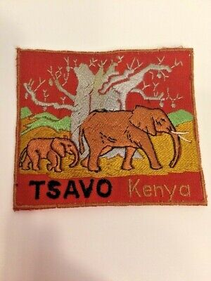 Vintage Patch From Kenya Africa TSAVO Elephant 3 Inches