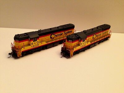 Pair of Beautiful Proto 2000 Chessie SD9's #1828 & 1829 C7 Tested! Last Call!