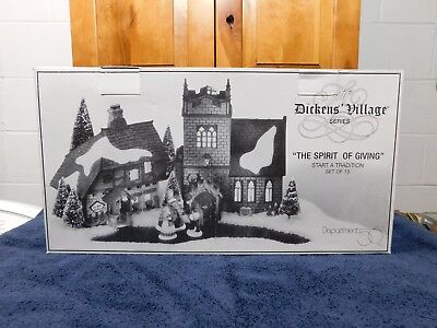 Dept 56 Dickens' Village The Spirit Of Giving Start a Tradition Set of 13