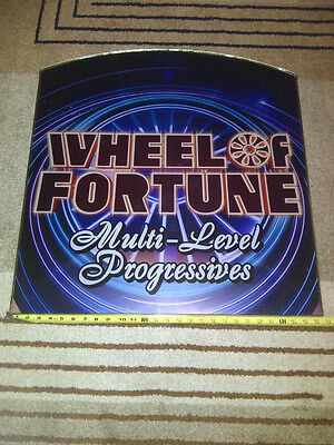 Large Wheel of Fortune Multi-Level Progressives Sign