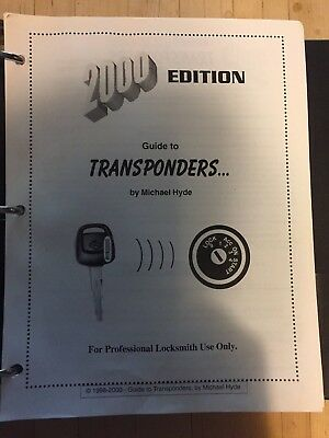 Transponder Book by Michael Hyde, Hundreds of pages filled with information !