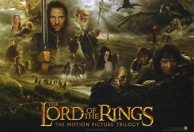 LORD OF THE RINGS TRILOGY 13.5x20 PROMO MOVIE POSTER