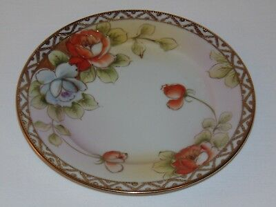 Vintage Antique Art Deco Nouveau Hand Painted Nippon China Decorative Plate