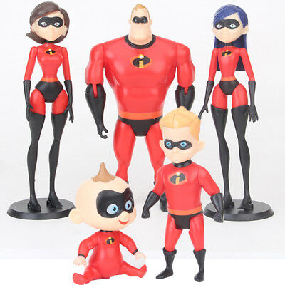 The Incredibles Family Violet Dash Jack Movie 5 PCS Action Figure Kid Gift Toys