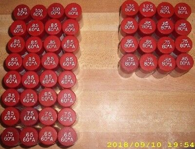 [48] Delavan Assorted GPH A Hollow Oil Burner Nozzles New Lot * 60 + 80 Degrees