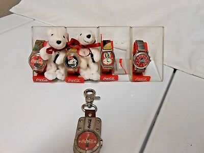 Coca Cola Watches 6 Watches for one Price - GREAT COKE COLLECTIBLES