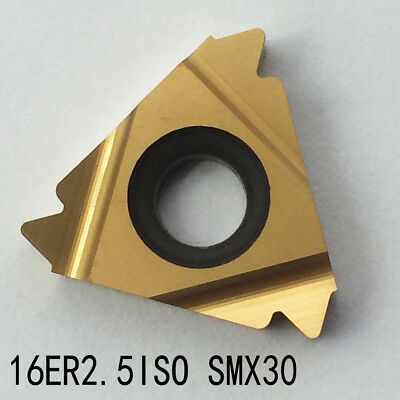 10pcs 16ER 2.5ISO SMX30 alloy carbide inserts Groove cutting inserts for steel